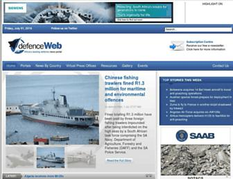 defenceweb.co.za screenshot