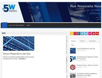 Main page screenshot of 5wpr.net