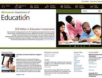 education.state.mn.us screenshot