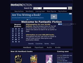 Main page screenshot of fantasticfiction.co.uk