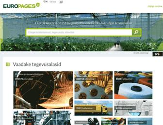 Main page screenshot of europages.org