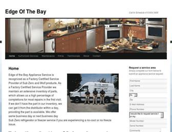 edgeofthebayapplianceserviceandrepair.com screenshot