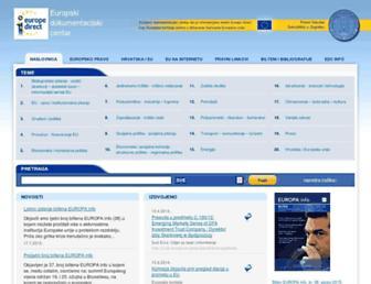 euinfo.pravo.hr screenshot
