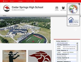 highschool.csredhawks.org screenshot