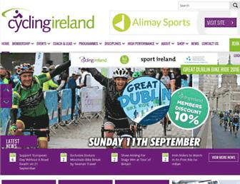 cyclingireland.ie screenshot