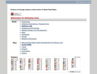 gelsana.com screenshot