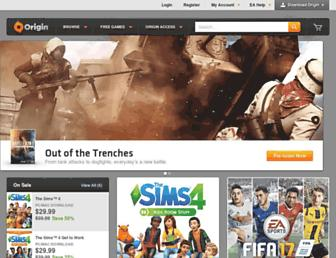 origin.com screenshot