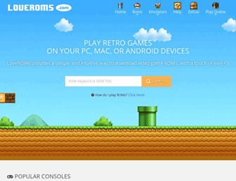 loveroms.com screenshot
