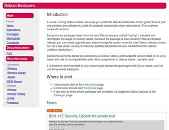 backports.debian.org screenshot