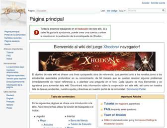 wiki.xhodon.es screenshot