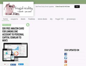 frugalreality.com screenshot
