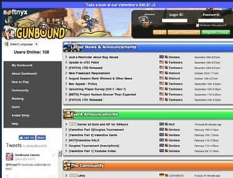 gunboundclassic.com screenshot