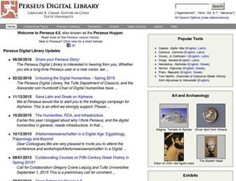perseus.tufts.edu screenshot