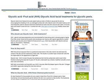 Main page screenshot of glycolic.org