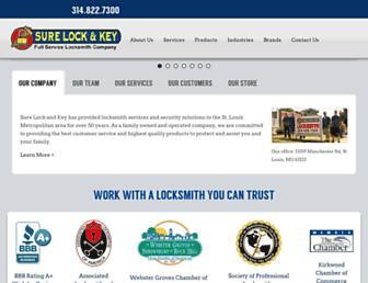Main page screenshot of surelockandkey.net