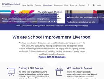 schoolimprovementliverpool.co.uk screenshot