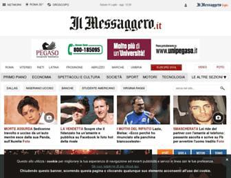 Main page screenshot of ilmessaggero.it