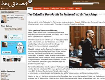 Main page screenshot of helge.at