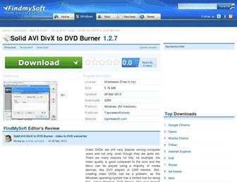 solid-avi-divx-to-dvd-burner.findmysoft.com screenshot