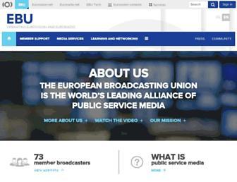 Main page screenshot of ebu.ch