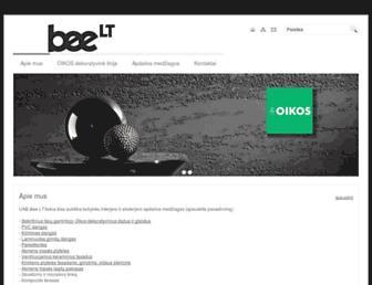 Main page screenshot of be-e.lt