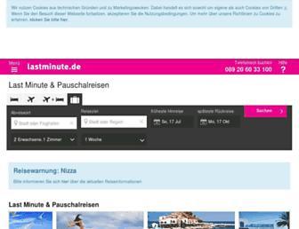 Thumbshot of Lastminute.de