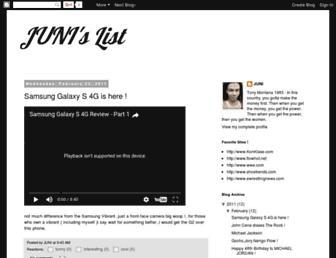 junislist.blogspot.com screenshot