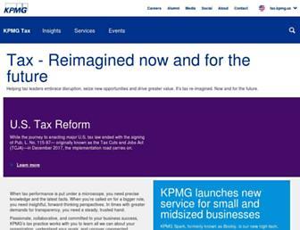 tax.kpmg.us screenshot
