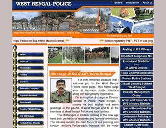 policewb.gov.in screenshot