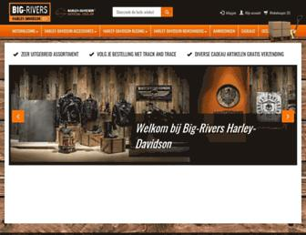 harleywebshopbigrivers.nl screenshot