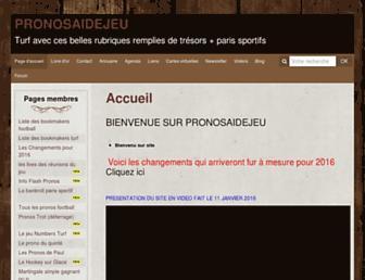 pronosaidejeu.com screenshot