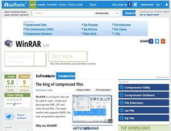 winrar-64bit.en.softonic.com screenshot