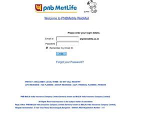 mail.pnbmetlife.co.in screenshot