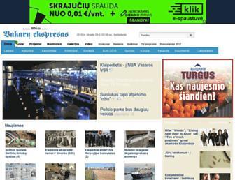 Main page screenshot of ve.lt