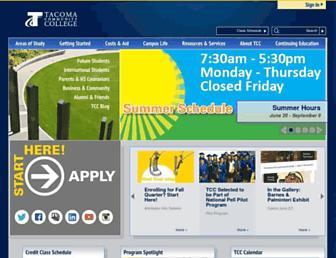 tacomacc.edu screenshot