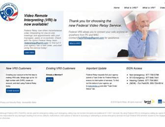 Main page screenshot of fedvrs.us