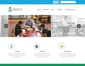 Main page screenshot of pencilfd.org