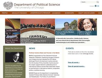 Main page screenshot of political-science.uchicago.edu