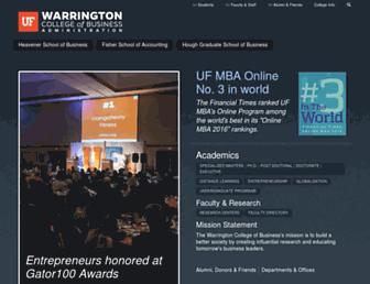 warrington.ufl.edu screenshot