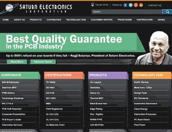 saturnelectronics.com screenshot