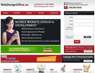 Main page screenshot of webdesignoffice.us