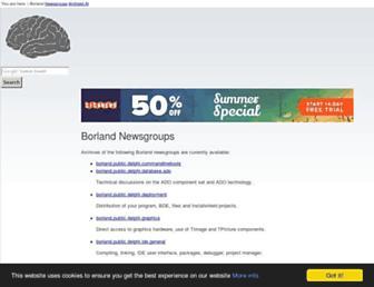 borland.newsgroups.archived.at screenshot