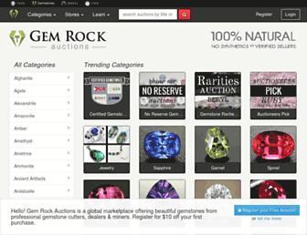 gemrockauctions.com screenshot