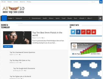 Thumbshot of Alltoptens.com