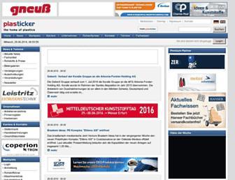 Main page screenshot of plasticker.de