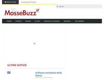 Main page screenshot of mosse.it