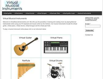 virtualmusicalinstruments.com screenshot