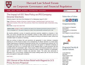 corpgov.law.harvard.edu screenshot