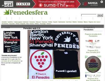 Main page screenshot of penedesfera.cat