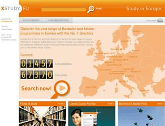 Main page screenshot of xstudy.eu